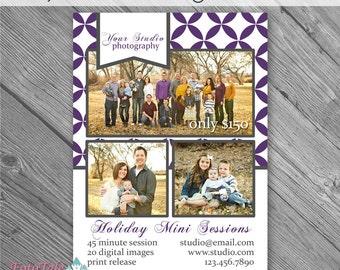 INSTANT DOWNLOAD - Rejoice Christmas Marketing Board 1- custom 5x7 photo template