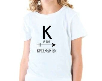 K is for Kindergarten Instant Download Iron On