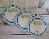 Balloon Party Custom Favor Tags - Up, Up, and Away Collection from Tea Party Designs