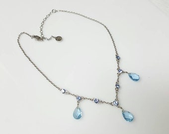 Givenchy Tear drop Necklace Baby Blue mint condition