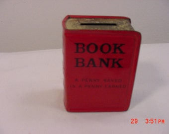 Vintage Book Bank -- A Penny Saved Is A Penny Earned   16 - 141