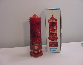 Vintage Guardian Angels Candle Ensemble In Original Box   15 - 85