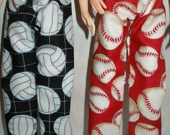 """Handmade 11.5"""" fashion doll  clothes - Your choice - 1 pair of print pants"""