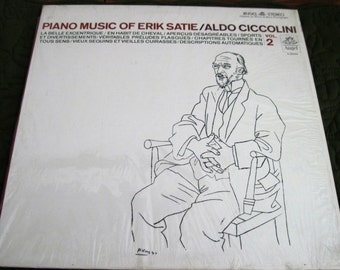 Vintage Angel Stereo S-36459 Vinyl LP Record Album Piano Music Of Erik Satie/Aldo Ciccolini Vol. 2