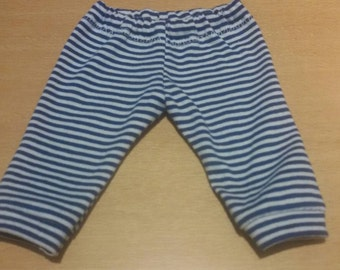 White/blue pants for 10-11 inch baby