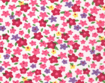 Pinwale Corduroy Red Purple Yellow Floral Fabric Finders Cotton 60 inch fabric by the yard