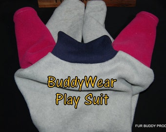 """Sale 19"""" BuddyWear Play Suit  fleece outfit for Whippets and other long legged dogs."""