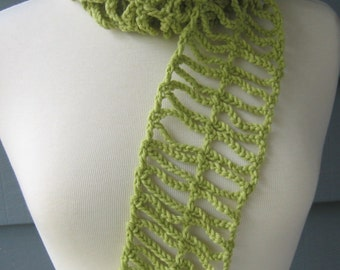 PATTERN S-058 / Crochet Pattern / Raindew Scarf ... worsted 150 yards