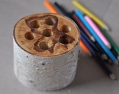 Wooden pen & pencil holder, home decor,  desk organization, desk accessory office decor.