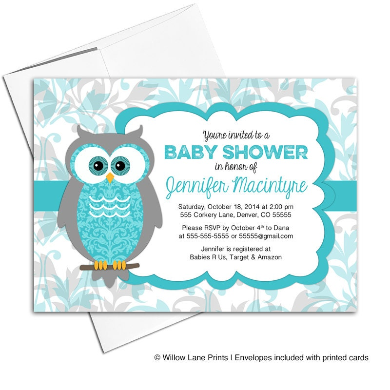 gender neutral baby shower invites owl invitations
