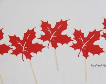 Maple Leaf - Cupcake Toppers