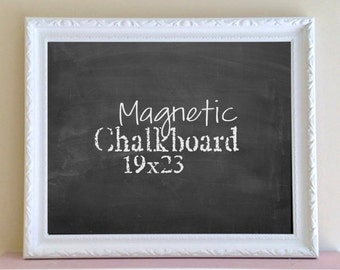 Kitchen CHALKBOARD White Chalkboard MAGNETIC Wedding Chalkboard Signage Sign Fancy Decorative Chalk Board Black Board Mudroom Wall Decor