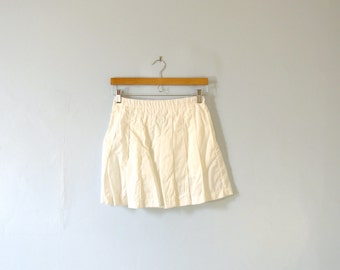 Vintage 80's Nike white tennis skirt, pleated skirt, size medium