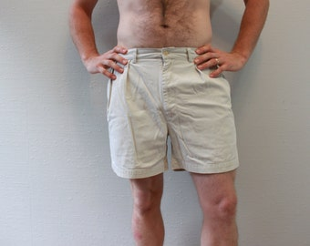 Vintage 90s Khaki Ralph Lauren Polo Shorts