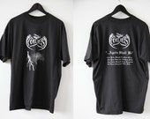 Vintage HADES 90s Black Metal T-Shirt Faded Soft