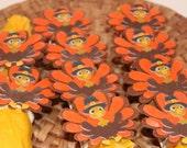 Turkey Thanksgiving Napkin Rings Set of 10 Parties