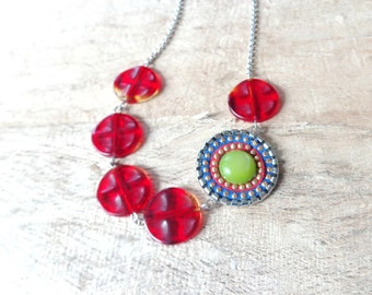 Red  colorful necklace