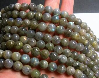 Labradorite - 10 mm beads -1 full strand - 40 beads - RFG899