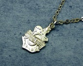 Harley Davidson Necklace, Silver Charm
