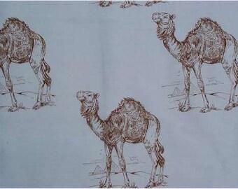 Camel 2 Hot Diggity Dog Fabrics Novelty Fabric