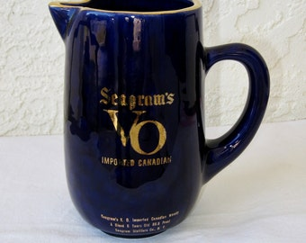 Seagram's VO Imported Canadian Whiskey Jug/Pitcher