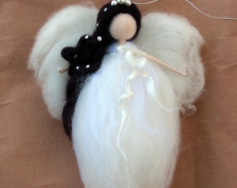 Christmas angel Waldorf inspired Winter Fairy Needle felted fairy Home decor