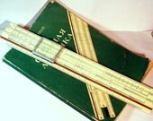 1968 Vintage Russia USSR Slide Rule with educational book included