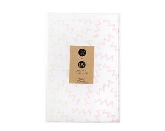 Gradient Static Newsprint Gift Wrap / Knot & Bow x Tough Luck
