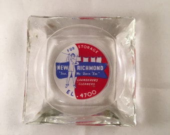 Vintage New Richmond Laundry Service & Fur Storage Ashtray