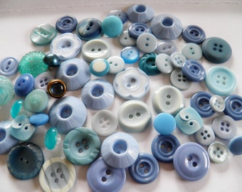 Lot of Blue Buttons