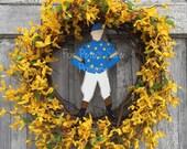Horseracing wreath