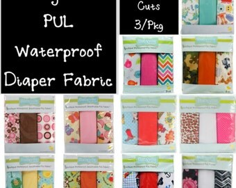 """CLOSEOUT Sale - BABYVILLE BOUTIQUE- Waterproof PuL Fabric - 3 Pack - 21"""" x 24"""" - Please Read Listing, limited qty.s available"""