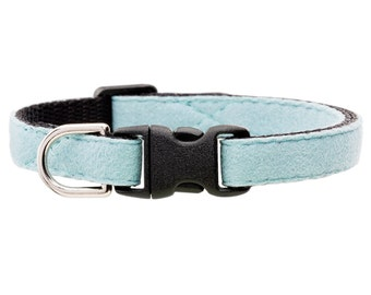 "Cat Collar - ""The Luxe"" - Sky Blue Ultrasuede"