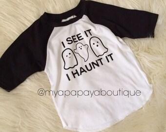 I See it, I haunt it reglan halloween tee shirt