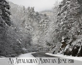 """2016 """"My Appalachian Mountain Home"""" 12 month wall calendar East Tennessee North Carolina rustic country roads barns John Deere Gift Under 20"""