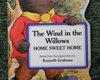 REDUCED, VINTAGE BOOKS, The Wind in the Willows, Set of 4 Hardboard Books for Toddlers