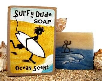 GIFT for SURFER, Man, Boy, Teenager. Gift for Him. 4 oz Soap for Men.