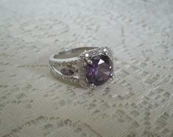 Amethyst Ring, amethyst jewelry victorian jewelry medieval jewelry renaissance jewelry art nouveau art deco sterling silver neo victorian