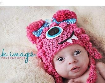 Summer SALE Pink Lil Monster hat