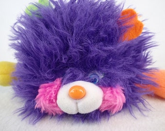 Popples Pufflings Purple Small Plush Mattel 80s Toy