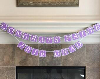 Graduation Banner - Class of 2018 Decor - Graduation Party Decorations - Custom School Colors- Graduation Supplies - Graduation Banner