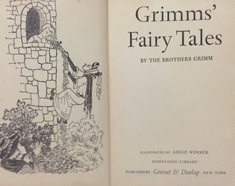 Grimms Fairy Tales 1963 illustrated by Adele Werber hb book 247 pages