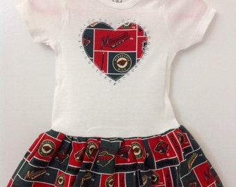 Minnesota Wild Inspired Infant Dress