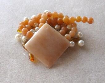 Aventurine Pendant and Beads, DIY Jewelry Making Kit, Craft Supplies, Glass Beads, Gemstone Beads, Necklace Kit, Jewelry Design, Bead Kit