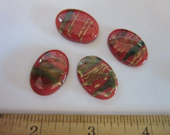18 lucite cabochons, vtg varigated oval 25x18mm cabochons, C #1, 1, craft supplies, Jewelry supplies, jewelry findings, supplies jewelry