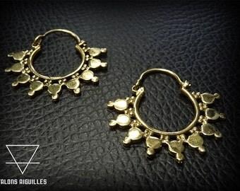 Boucles d'oreille laiton # brass hoop earrings