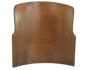 Early 20th Century Wood Theater Seat Back - Curved Chair back - Replacement Back