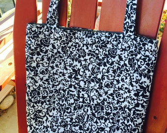 For Charity Reusable Black and White Book Bag Market Bag Grocery Bag Tote Bag for Dachshund Rescue