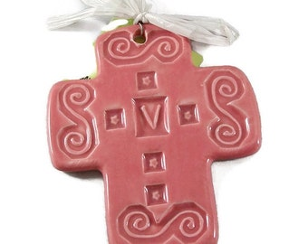 Personalized clay Cross small size