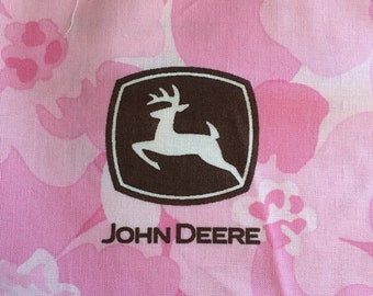 """24"""" John Deere Pink and Brown Floral cotton fabric"""